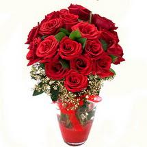 Kütahya kaliteli taze ve ucuz çiçekler   9 adet kirmizi gül