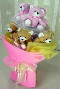 8 adet ayiciktan buket  Kütahya çiçek gönderme sitemiz güvenlidir