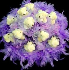 11 adet pelus ayicik buketi  Kütahya hediye sevgilime hediye çiçek