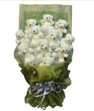 11 adet pelus ayicik buketi  Kütahya İnternetten çiçek siparişi