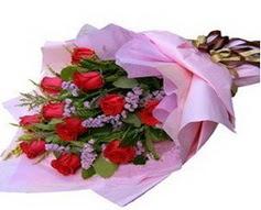 11 adet kirmizi güllerden görsel buket  Kütahya cicek , cicekci