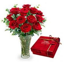 Kütahya çiçek mağazası , çiçekçi adresleri  10 adet cam yada mika vazoda gül çikolata