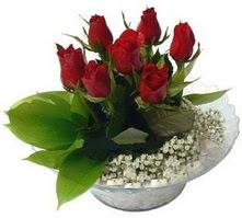 Kütahya güvenli kaliteli hızlı çiçek  cam yada mika içerisinde 5 adet kirmizi gül