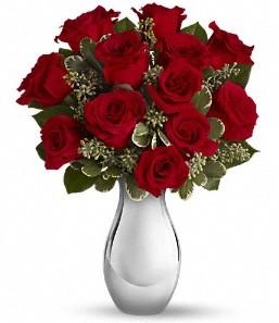 Kütahya çiçek yolla , çiçek gönder , çiçekçi    vazo içerisinde 11 adet kırmızı gül tanzimi