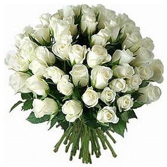 Kütahya hediye çiçek yolla  33 adet beyaz gül buketi