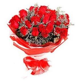 Kütahya çiçekçi mağazası  12 adet kırmızı güllerden görsel buket
