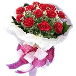 Kütahya anneler günü çiçek yolla  11 adet kırmızı güllerden buket modeli