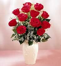 Kütahya çiçek mağazası , çiçekçi adresleri  9 adet vazoda özel tanzim kirmizi gül