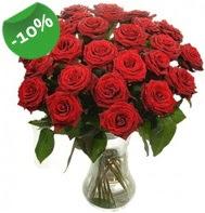 Vazo içerisinde 25 adet kırmızı gül  Kütahya çiçek gönderme sitemiz güvenlidir