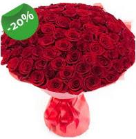 Özel mi Özel buket 101 adet kırmızı gül  Kütahya çiçek satışı
