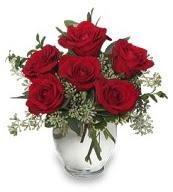 Vazo içerisinde 5 adet kırmızı gül  Kütahya çiçek mağazası , çiçekçi adresleri
