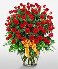 Görsel vazo içerisinde 101 adet gül  Kütahya çiçek gönderme sitemiz güvenlidir