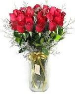 27 adet vazo içerisinde kırmızı gül  Kütahya online çiçek gönderme sipariş