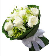 9 adet beyaz gül buketi  Kütahya kaliteli taze ve ucuz çiçekler