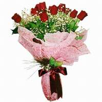 Kütahya kaliteli taze ve ucuz çiçekler  12 adet kirmizi kalite gül