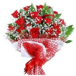 11 kırmızı gülden buket  Kütahya çiçekçi telefonları