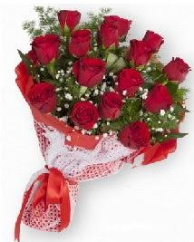 11 kırmızı gülden buket  Kütahya internetten çiçek satışı