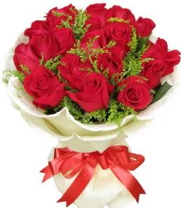 19 adet kırmızı gülden buket tanzimi  Kütahya hediye çiçek yolla