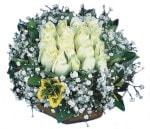Kütahya yurtiçi ve yurtdışı çiçek siparişi  Beyaz harika bir gül sepeti