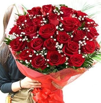 Kız isteme çiçeği buketi 33 adet kırmızı gül  Kütahya cicek , cicekci