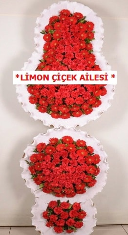 3 katlı kırmızı düğün açılış çiçeği  Kütahya uluslararası çiçek gönderme