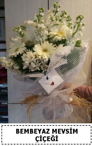 Bembeyaz görsel mevsim çiçek buketi  Kütahya cicekciler , cicek siparisi