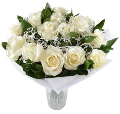 15 beyaz gül buketi sade aşk  Kütahya anneler günü çiçek yolla