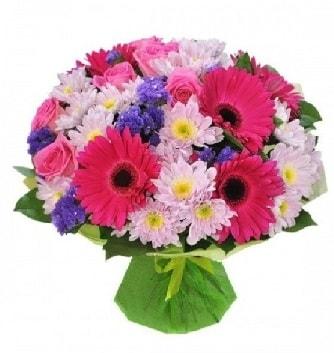Karışık mevsim buketi mevsimsel buket  Kütahya anneler günü çiçek yolla