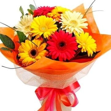 9 adet karışık gerbera buketi  Kütahya hediye sevgilime hediye çiçek
