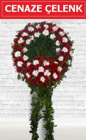 Kırmızı Beyaz Çelenk Cenaze çiçeği  Kütahya online çiçek gönderme sipariş
