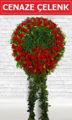 Kırmızı Çelenk Cenaze çiçeği  Kütahya online çiçek gönderme sipariş