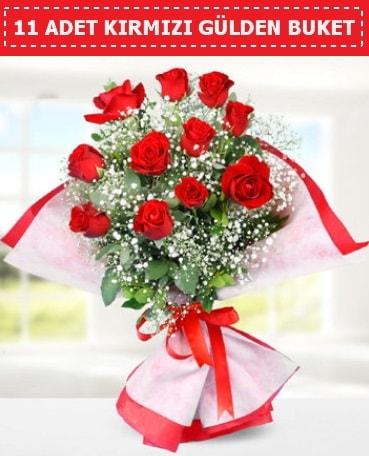 11 Adet Kırmızı Gül Buketi  Kütahya online çiçekçi , çiçek siparişi