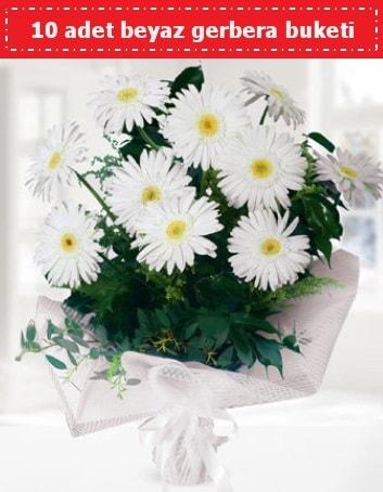 10 Adet beyaz gerbera buketi  Kütahya hediye sevgilime hediye çiçek