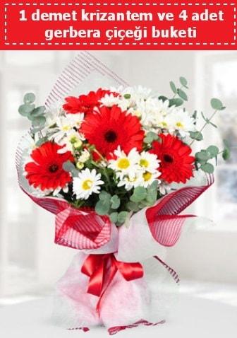 Krizantem ve Gerbera Buketi  Kütahya kaliteli taze ve ucuz çiçekler