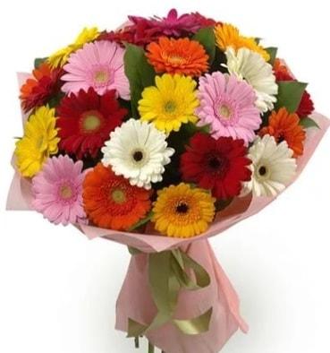Karışık büyük boy gerbera çiçek buketi  Kütahya anneler günü çiçek yolla